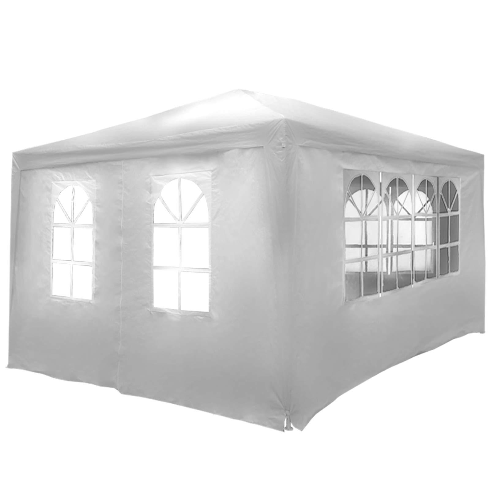 MIADOMODO Carpa de Jardín - 3x4m con 4 Paredes Laterales, Impermeable, Protección Solar UV30+, Blanco - Tienda Pabellón, Tiendas para Eventos y Fiestas, Carpa Pop-Up, Gazebo: Amazon.es: Hogar