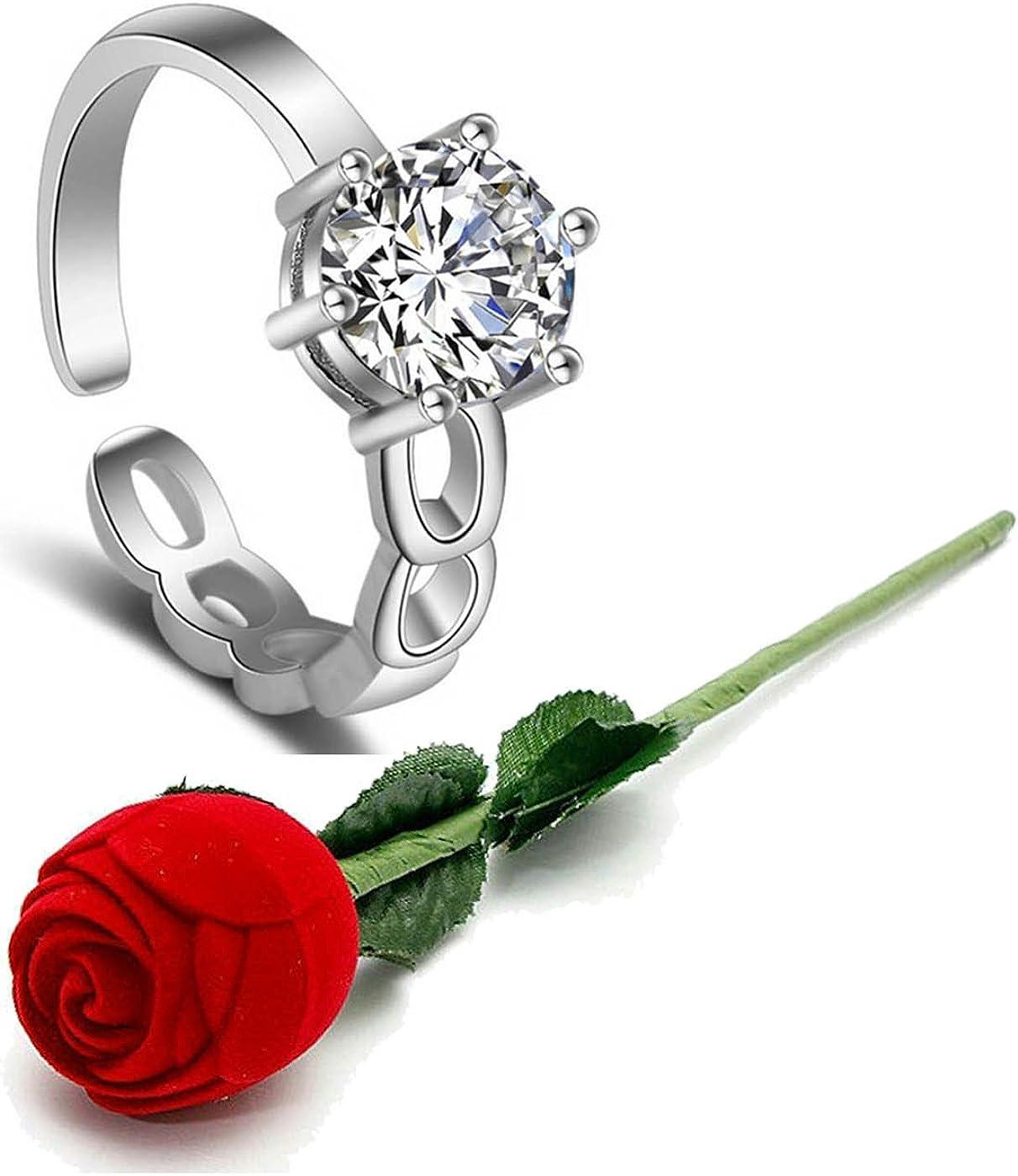 Karatcart Women's Valentine Gift 新作送料無料 Plated 激安通販販売 Adjusta Elegant Platinum
