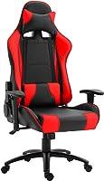 Mahmayi Gumi 09854 High Back Video Gaming Chair – PU Leatherette Upholstered Ergonomic 360 Swivel Game Chair with Lumbar...