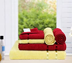 Story At Home Towel Combo Set, Red/Yellow, TW1215-1217Z, 6 Pcs