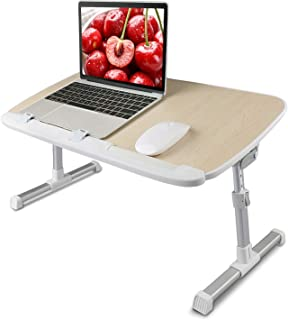 Laptop Bed Tray Table - Adjustable Laptop Bed Stand Desk, Folding Laptop Standing Desk Table, Portable Computer Lap Desk Tablet Table Riser for Sofa Couch Floor by HUANUO
