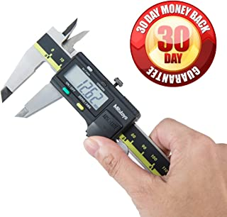 0//0mm-6//150mm Range Stainless Steel Solar Powered Inch//Metric 0.0005//0.01mm Resolution +//-0.001//0.01mm Accuracy Mitutoyo 500-464 Digital Calipers
