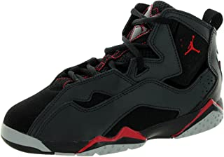 Nike Jordan Kids Jordan True Flight Bp Black/Gym Red/Anthrct/Wlf Gry Basketball Shoe 11 Kids US