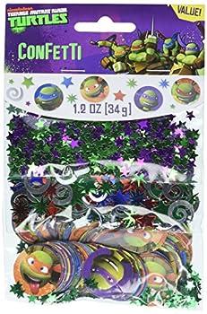 amscan Totally Tubular Teenage Mutant Ninja Turtles Party Confetti Mix Decoration Paper 1