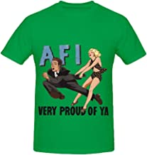 Cha Cha's AFI Very Proud of Ya Greatest Hits Mens Crew Neck Casual T Shirts
