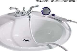 SmarterFresh Sink Hose Sprayer Attachment, Hair Washing Handshower Faucet Rinser Extension for Utility Room, Bathroom, Laundry Tub (Sink Hose Sprayer)