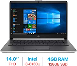 2019 HP 14-inch FHD (1920x1080) IPS Laptop PC (Intel Core i3-8130U Up to 3.4GHz Processor, 802.11 ac WiFi, Bluetooth, Webcam, USB 3.1 Type-C, HDMI, Windows 10, 4GB DDR4 RAM 128GB SSD