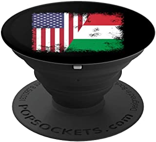 Half Italian Flag Design   Vintage Italy USA Gift - PopSockets Grip and Stand for Phones and Tablets