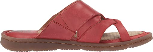 Red Full Grain Leather