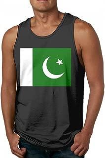 Pakistan Flag Men's Popular Black Tank Top T-Shirt Workout Cotton Tees