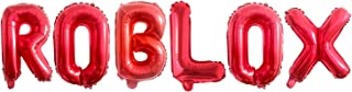 16 Inch Aluminum Foil Party Balloons for Video Game Theme Party Balloon Supplies Video Game Birthday Decoration (Red)