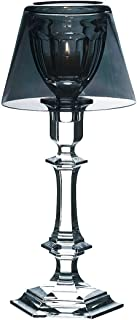 Baccarat Our Fire Single Crystal Silver Shade Candle Holder New 12 3/4