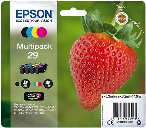 Epson C13T29864012 Cartouche à jet d'encre 29 Claria Home, Multipack 4 couleur