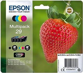 Epson C13T29864012 - Cartucho de tóner para XP235, negro, amarillo, magenta, cian, paquete estándar válido para los modelo...
