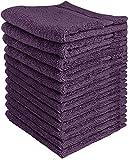 Utopia Towels - Juego de Toallas Premium (30 x 30 cm, Ciruela) 600 gsm 100% algodón para la Cara, Toallas Altamente absorbentes y de Tacto Suave para la Punta de los Dedos (Paquete de 12)