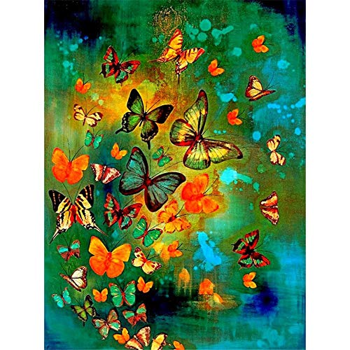 Diamond Painting by Numbers Kits DIY 5D Full Drill Animal Butterflie Paste Crystal Rhinestone Adults Kids Handmade Embroidery Diamond Art Craft for 25x30cm