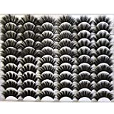GMAGICTOBO False Eyelashes 30 Pairs Pack Faux Mink Lashes 20MM Long Dramatic 6 Styles Mixed 5D Fluffy Volume Thick Fake Eyelashes Soft Wispy Makeup Eye Lashes