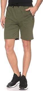 Off Cliff Plain Side Zipped Pocket Elastic Waist Sport Shorts for Men