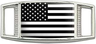 Subdued American USA Flag Black White Military Tactical Rectangular Shoe Shoelace Shoe Lace Tag Runner Gym Charm Decoration