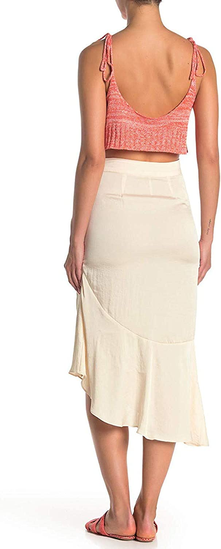 Free People Womens Lola Asymmetric Ruffled Slit Skirt BHFO 1638