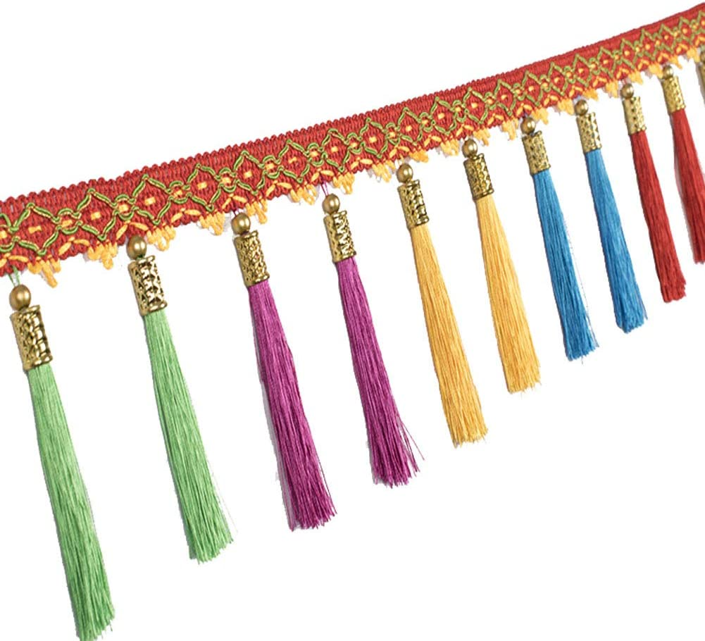 MELADY Pack Austin Mall of Low price 12M Colorful Hanging Trim Fringe Ear Craft Sewing