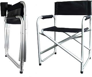 Hyfive Directores Silla Plegable de Aluminio Asiento de