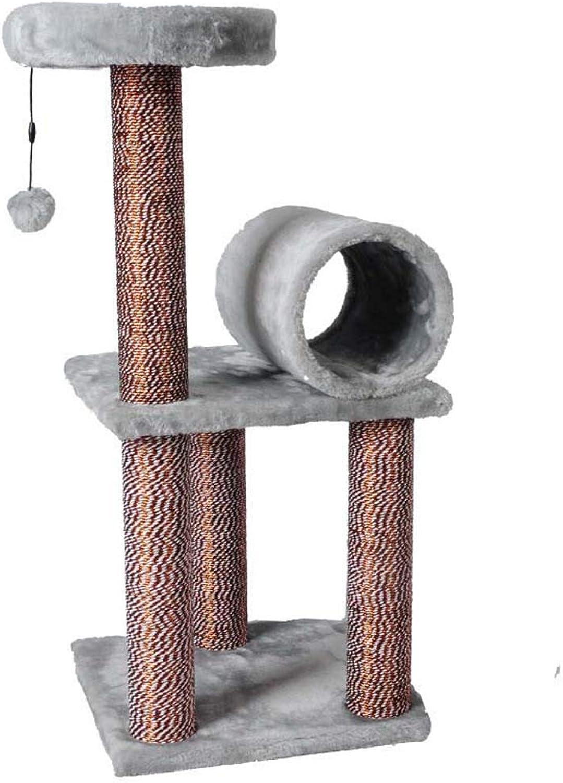 GLMAMK Plush Cat Climbing Frame, Glass Paper Clips Pet Supplies,Cat Tree Scratcher Activity Centre