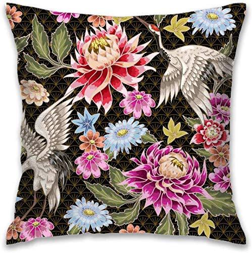 Aoyutiy polyester decoratieve kussenslopen kussenslopen bank kussensloop bank 18 x 18 inch beschilderde tassen bloemen