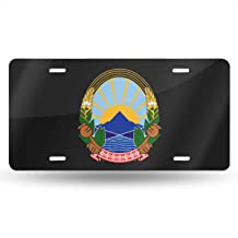 NMG-06 Macedonia National Emblem License Plate Car Accessories License Plate Tag for Car, Truck, RV, Trailer, 6 X 12 Inches