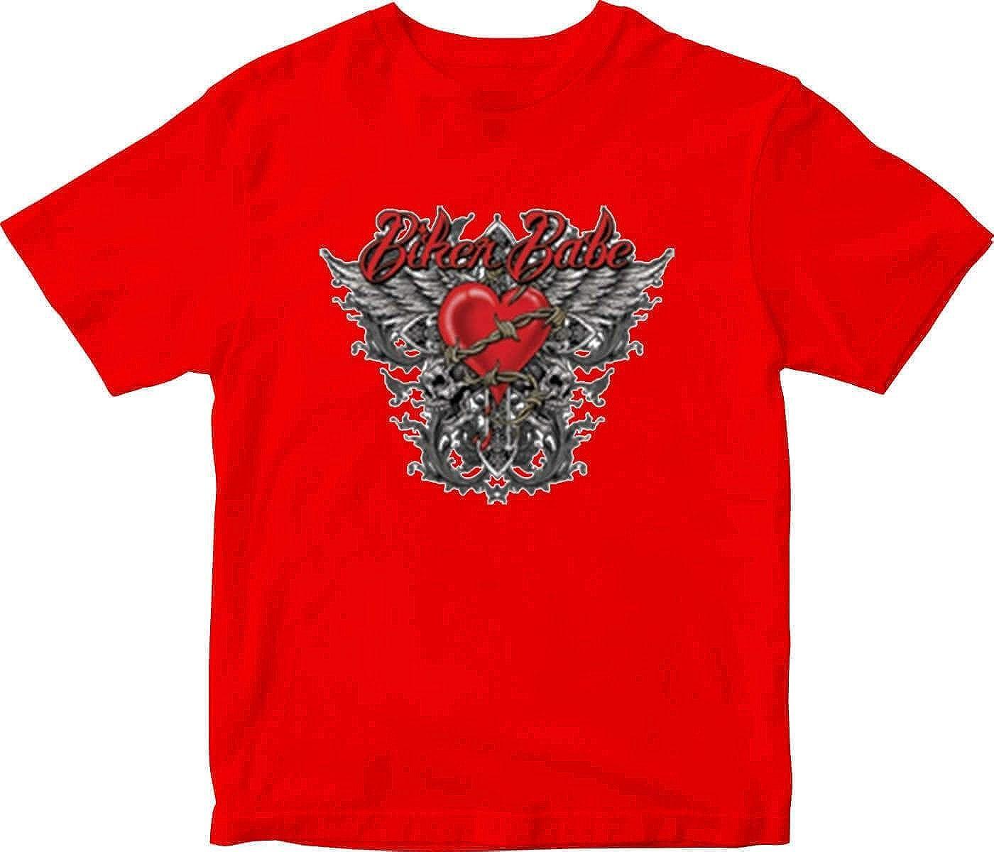 Biker Babe Adult Printed T-Shirt