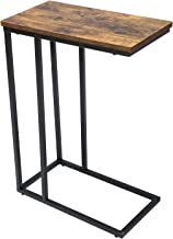 Yusong Side Table, End Table for Living Room, C Shaped Table with Stable Metal Frame, Sofa Table for Coffee Snack Laptop, ...