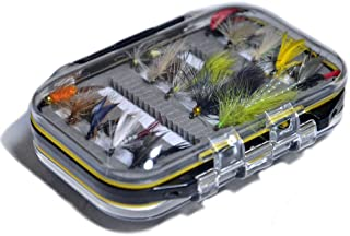 Outdoor Planet Assorted Trout Fly Fishing Lure Pack of 10/12/15/28/35/48/66 Pieces Fly Lure + Double Side Waterproof Pocketed Fly Box