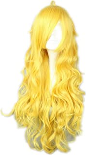 COSPLAZA Cosplay Costume Wigs 80cm Long Wavy Long Yellow Anime Show Party Hair