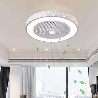 Luz de Ventilador de Techo LED Regulable, con Control Remoto Velocidad del Viento Ajustable Ventilador de Techo Silencioso Sala de Estar Dormitorio Habitación para Niños Lámpara de Techo (A-50CM)