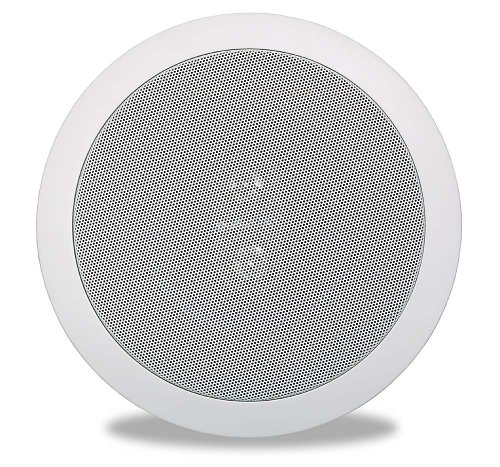 Polk Audio RC6s In-Ceiling 6.5 Stereo Speaker | Dual Channel from a Single Location | Perfect for Damp and Humid Indoor/Outdoor Placement - Bath, Kitchen, Covered Porches (White, Paintable Grille)