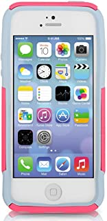 OtterBox COMMUTER WALLET SERIES Case for iPhone 5/5s/SE - Retail Packaging - PRIMROSE (BLAZE PINK/POWDER GREY) (Discontinued by Manufacturer)
