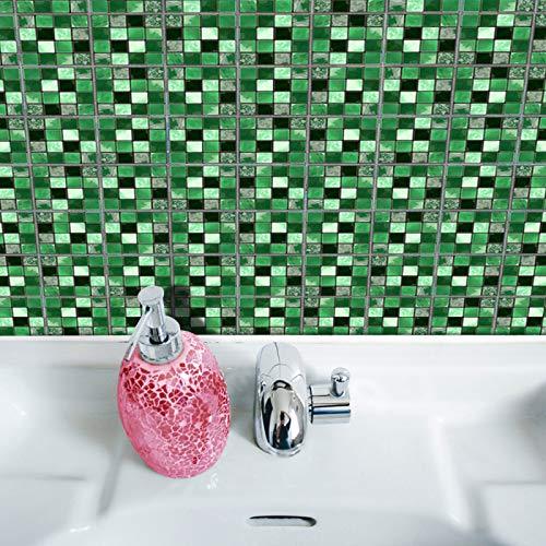 DHHY Pegatinas de Pared de Azulejos de Mosaico 3D Impermeable baño Cocina, Pegatinas de Pared Dormitorio Sala de Estar decoración Pegatinas Set 19 Piezas