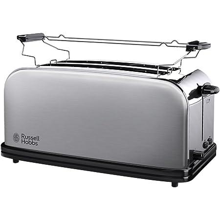 Russell Hobbs Toaster Grille Pain, 2 Longues Fentes Spécial Baguette, 6 Niveaux de Brunissage, Chauffe Viennoiserie - 23610-56 Adventure