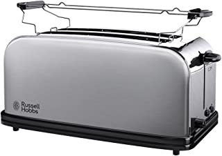 Russell Hobbs Toaster Grille Pain, 2 Longues Fentes Spécial Baguette, 6 Niveaux de Brunissage, Chauffe Viennoiserie - 2361...