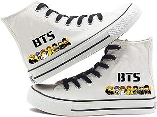 HJJ BTS - Zapatos de lona clásicos Kpop para parejas, transpirables, estilo hip-hop, estilo casual, parte superior baja, p...