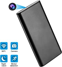 AMCSXH HD 1080P 10000mAh WiFi Hidden Power Bank Camera Wireless Motion Detection, Spy Power Bank Camera,Night Vision, Security Surveillance Camera Nanny Cam, Security for Home and Office