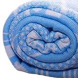 Baby Decke aus 100% Bio Baumwolle kba Hell Blau 110 x 140 cm