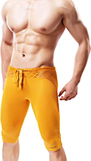 Minaso Men's Soft Mesh Cool Dry Compression Yoga Workout Tight Shorts