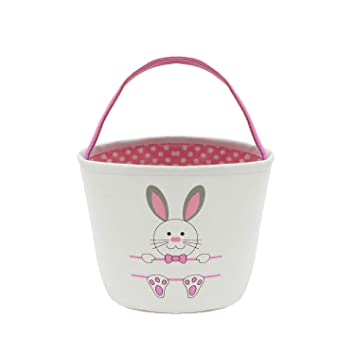 Easter Gift For Kids. Easter Basket Bunny Tote Bag Bucket for Easter Eggs Easter EggsGift Baskets for Kids Toys