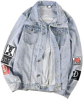 GAGA Men Casual Blazer Jacket Slim Fit Coat Sport Lightweight Denim Jackets