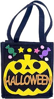 Valensha Children Trick or Treat Bags, Halloween Pumpkin Candy Tote Bag Bucket Non-Woven Fabrics Decorative Handbag Pouch