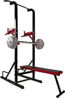 CCLIFE Multiestación Maquina de musculación Aparato Dip Banco Barra de dominadas Dip Pull-up Flexiones y Abdominales