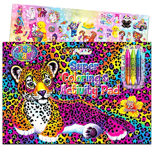 Lisa Frank Super Coloring and Activity Pad with Colorful Fun Stickers
