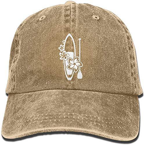 Odelia Palmer Flores Paddle Surf Board Unisex Algodón Ajustable Sombrero de Mezclilla Lavado Retro Gym Hat Cap Hat CBH-2268