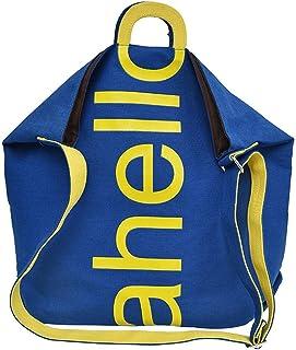 Wultia - Women Canvas Fresh Causal Fashion Letter Messenger Shoulder Bag Hand Travel Bag Bolsa Feminina Blue